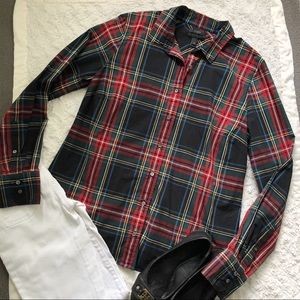 J Crew Perfect Shirt in Stewart Plaid